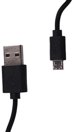 Whitenergy Cable USB to USB-micro Black 0.3m