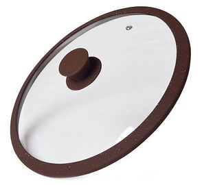 Fissman Arcades Lid With Marble Silicone Rim Dark Brown D24cm