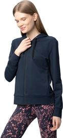 Tamprus moteriškas medvilninis džemperis Audimas, tamsiai mėlynas, M