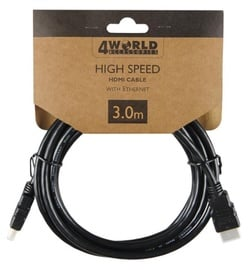 4World Cable HDMI / HDMI 3m Black