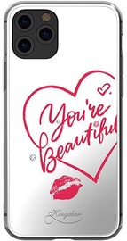 Kingxbar Angel Mirror You're Beautiful Back Case With Swarovski For Apple iPhone 11 Pro Max Transparent