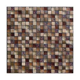 Stiklo mozaikos ruda A2046, 30x30 cm