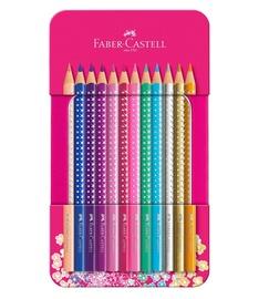 Krāsainie zīmuļi Faber Castell Sparkle Colour, 12 gab.