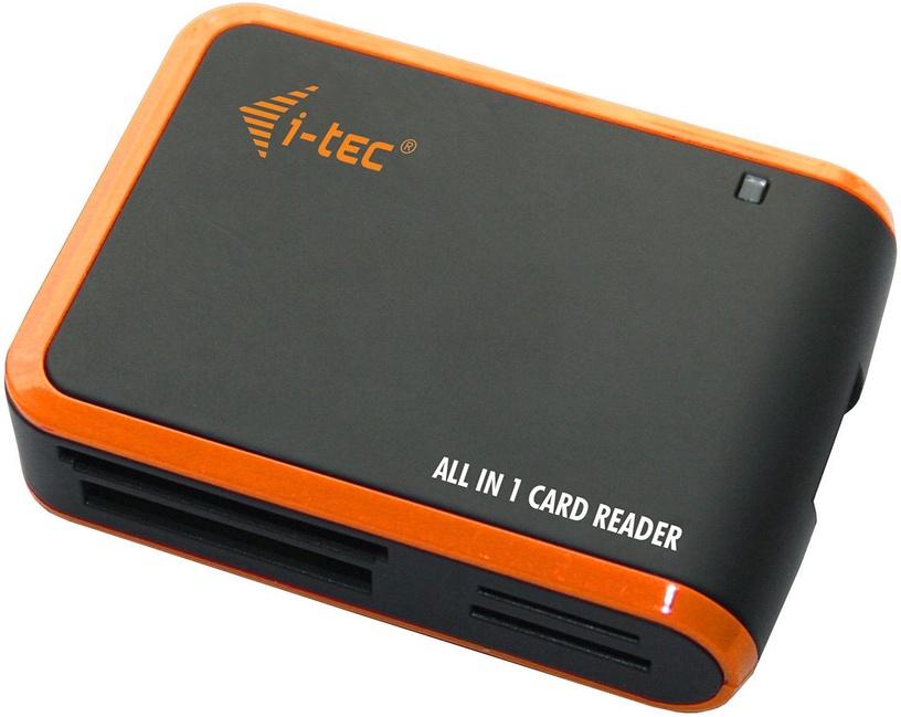 I-Tec USB 2.0 All-In-One Memory Card Reader Black/Orange