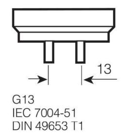 Liuminescencinė lempa Osram T8, 36W, G13, 4000K, 3350lm