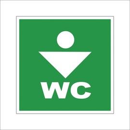 Zīme WC kungiem 10x10