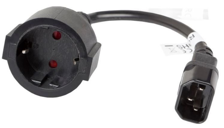 Адаптер Lanberg Adapter IEC C14 / Schuko 0.2m Black