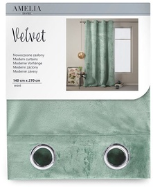 Öökardin AmeliaHome Velvet, roheline, 1400x2700 mm