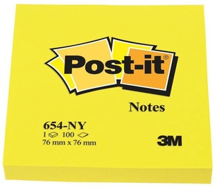 3M Post It 654-NY Sticky Notes 100pcs Bright Yellow