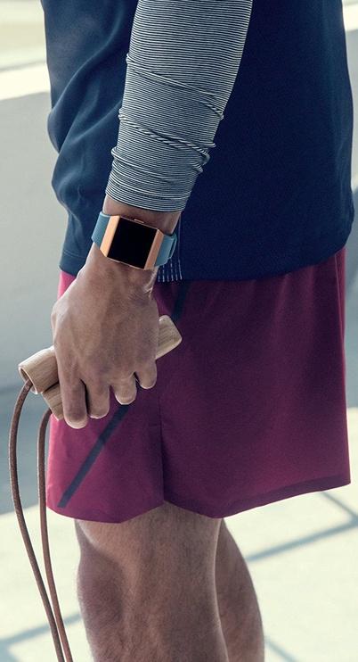 Išmanusis laikrodis Fitbit Ionic, oranžinė/pilka