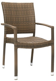 Home4You Armrest Chair Wicker 3 Cappuccino