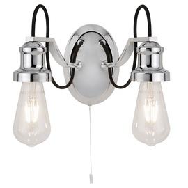 Retro stiliaus sieninis šviestuvas Searchlight Olivia 1062-2CC, 2 x 10W E27