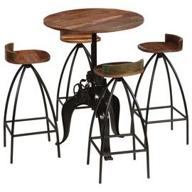 Обеденный комплект VLX 5 Piece Bar Set 245273, черный/коричневый