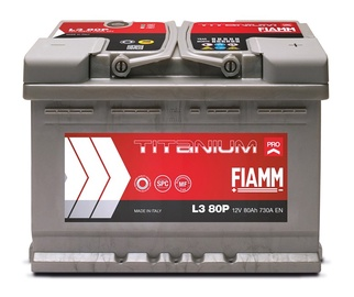 Akumuliatorius Fiamm L3 80P, 80 Ah, 730 A, 12 V