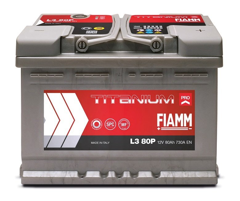Аккумулятор Fiamm L3 80P, 12 В, 80 Ач, 730 а