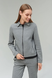 Audimas Cotton Zip-Through Sweatshirt Grey L