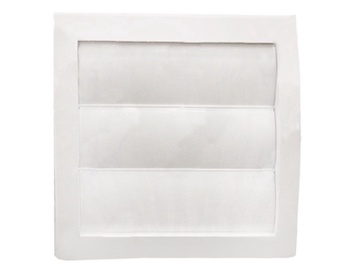 Ventilācijas reste Europlast, ND148X153/100mm, balta