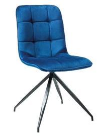 Стул для столовой Signal Meble Texo Velvet Black/Blue, 1 шт.