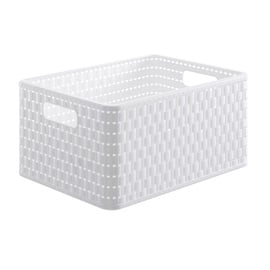 Rotho Storage Box Country With Handles A4 36.8x27.8x19.1cm White