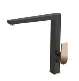 Кухонный смеситель Invena Midnight BZ-35-014-V, золотой/черный