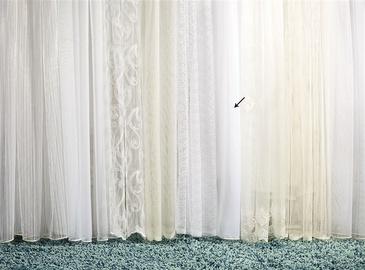 Dienas aizkari Tiul Bialy, 290 cm