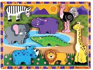 Melissa & Doug Safari Chunky Puzzle 8pcs 3722