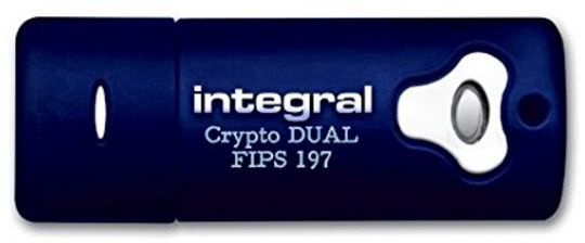 USB atmintinė Integral Crypto Dual, USB 3.0, 8 GB