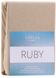AmeliaHome Ruby Frote Bedsheet 160-180x200 Dark Beige 09