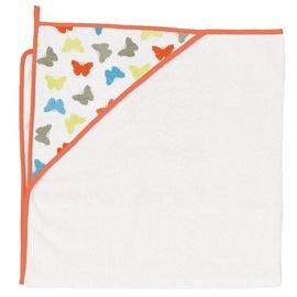 Ceba Baby Bath Towel Butterflies White