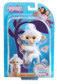 Fingerlings Baby Monkey Glitter White 3763