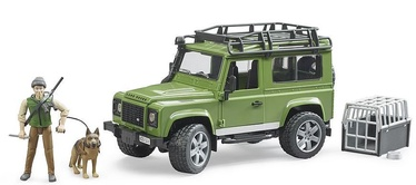 Bruder Land Rover Defender With Forest Ranger And Dog 02587