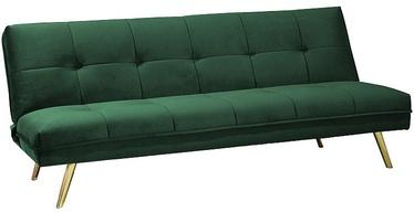 Dīvāngulta Signal Meble Moritz Velvet Green/Gold, 181 x 106 x 88 cm