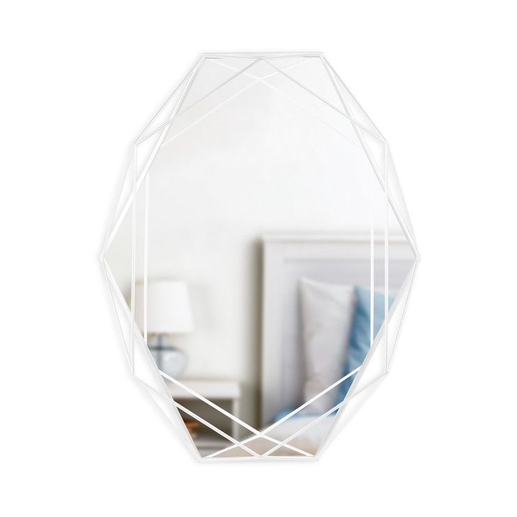 Peegel Umbra Prisma White, riputatav, 57x43 cm