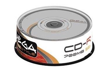 Kompaktinis diskas CD-R Omega Freestyle, 700 MB, 25 vnt.