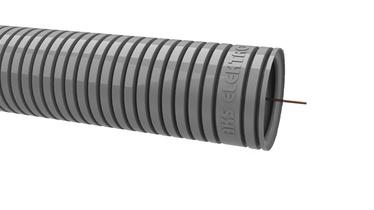 Gofruotas instaliacinis vamzdis RKGLP 20, PVC, pilkas, su viela, 50 m