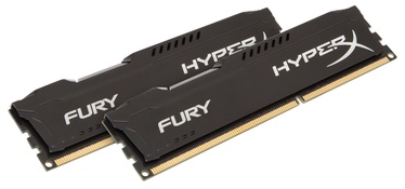 Kingston 8GB DDR3 PC12800 CL10 DIMM HyperX Fury Black Series KIT OF 2 HX316C10FBK2/8