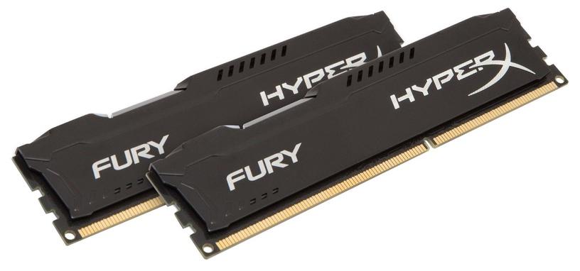 Kingston 8GB DDR3 PC12800 CL10 DIMM HyperX Fury Black Series KIT OF 2 HX316C10FBK2/8