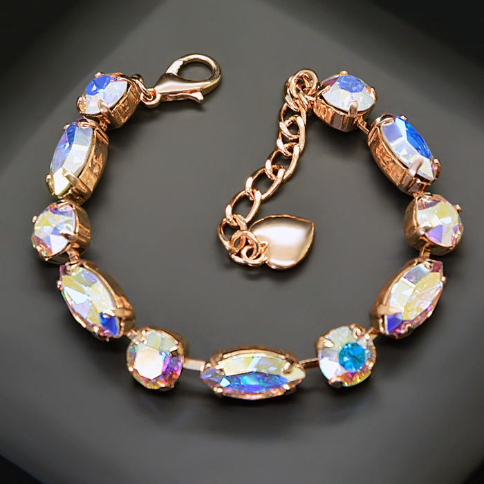 Diamond Sky Bracelet Chic II Aurore Boreale With Swarovski Crystals