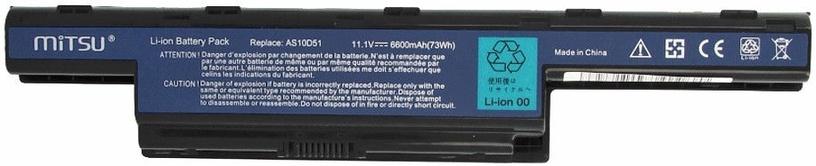 Mitsu Battery For Acer Aspire 4551/4741/5741 6600mAh