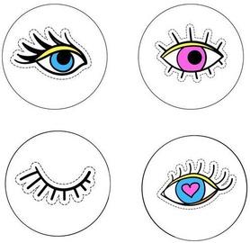 Mondex Molly Magnets Set Eye 24pcs