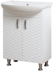 Sanservis 3D-60 Cabinet with Basin Arteko-60 White 60x84.5x44cm
