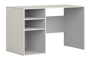 Black Red White Stanford Desk Plywood/Light Grey