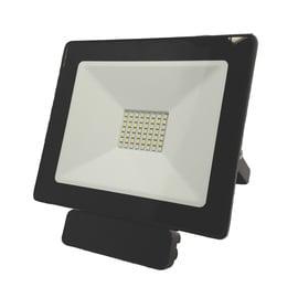 Tope Toledo 1x50W LED Black Outdoor Spotlight with Motion Sensor