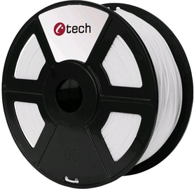 Расходные материалы для 3D принтера C-Tech 3DF-PLA1.75-W, 330 м, белый