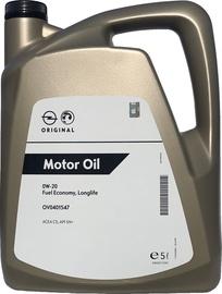 Машинное масло GM Opel FE Longlife 0W - 20, синтетический, для легкового автомобиля, 5 л