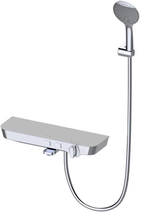 Vento Tivoli Thermostatic Faucet with Spout/Shelf White/Chrome