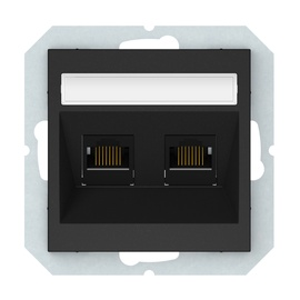 Kompiuterio lizdas Vilma QR1000, 2vt, mat. juodos spalvos