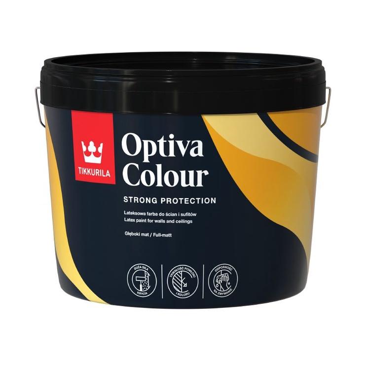Veepõhine akrüülvärv Tikkurila Optiva Colour AP, valge, 9 l