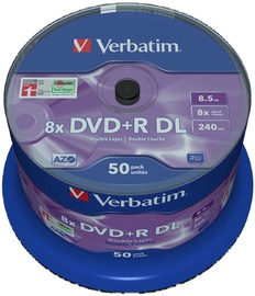 Verbatim DVD+R DL 8.5GB 8x 50pcs