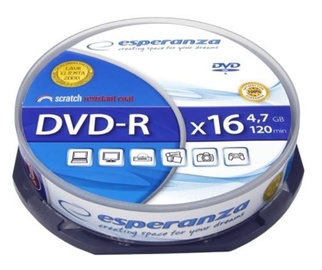 Esperanza DVD-R 4.7GB 16x 10pcs